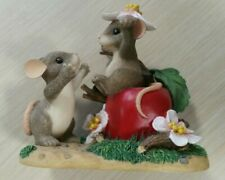 """Fitz & Floyd Charming Tails """"Apple of My Eye"""" 89/110 Limited Edition 2000 Mice"""
