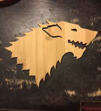 GAME OF THRONES - Specialty BAMBOO WOOD - STARK Wall Art Craft - House Banners