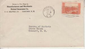FARLEY PRINTING #759 GRAND CANYON 2CT CONCORD,NH OCT 5 1942 CC MUTUAL INSURANCE