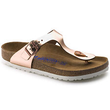 Birkenstock Leather GIZEH Metallic Copper SOFT FOOTBED BNIB 1005048