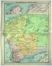 Original 1926 Map of Western Australia by George Philip. Vintage