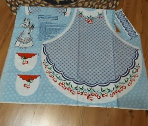 """NEW Vintage Daisy Kingdom Apron Panel Uncut * Amy's Aprons """"Cherry Red""""#9228"""