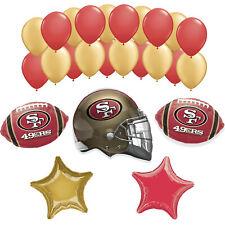 San Francisco 49ers MEGA SUPER BOWL 2020 Football Party Supplies Balloons • 26pc