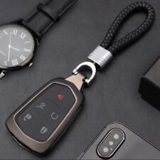 Smart Key Black Aluminum Case Cover Car Key Holder For Cadillac XT5 2017-2019