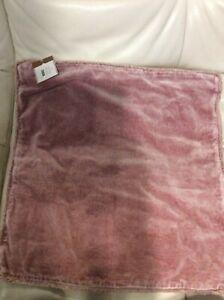Pottery Barn Velvet Fringe Pillow Cover NWT!  22x22 Blush Pink