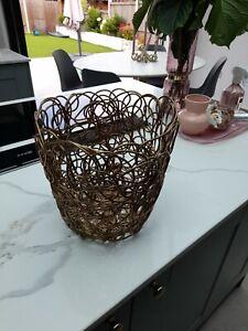Alessi Nuvem Citrus Basket Fruit Bowl Pre Owned Gold