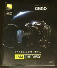 Nikon D850 Digital Single-Lens Reflex Camera Catalog 2017 Brochure Pamphle