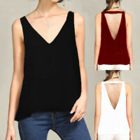 Summer Womens Pullover Sleeveless Tank Top Tee Shirt Blouse Cami Vest Camisole