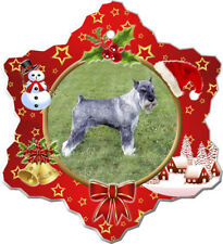 Standard Schnauzer Porcelain Christmas Holiday Ornament