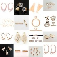 Selection of CHAMPAGNE ROSE GOLD Jewellery Making Beads & Findings - lady-muck1