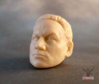 """ML107 Jango Fett Custom Sculpt Cast head use w/6"""" Marvel Legends Star Wars Black"""