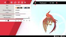 Pokemon Flambusard   shiny 6IV + masterball - Battle Ready - Epée/Bouclier