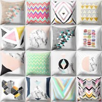 GN- GEOMETRIC PATTERN THROW PILLOW CASE HOME DECOR SQUARE SOFA CUSHION COVER CLA