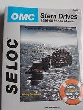 OMC COBRA SX STERN DRIVE REPAIR SERVICE MANUAL 1986 - 1998 SELOC 3404
