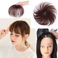 Human Hair Toupee Topper Piece Natural Hairpiece Clip Firm Hair Extension