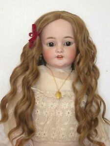 """perruque Jumeau® blond foncé T28/29cm(11"""")-poupée ancienne moderne-doll wig 11"""""""