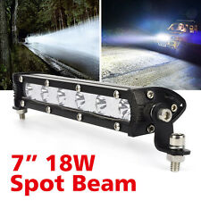 "7"" 18W LED WorkLight Bar Spot Beam Cree 4X4 4WD Offroad Truck Driving Light 12V"