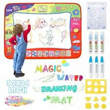 Large Magic Aqua Water Drawing Doodle Mat Educational Toys Kids Todder Xmas Gift