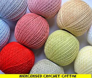 Mercerised Crochet Cotton Embroidery Thread  yarn highest quality 30g 200m ball