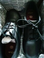 Clarks Comet Star GTX Black School Shoes Size 4F / 37 Brand New in Box