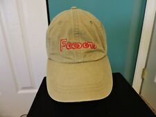 Feesers Leather Strapback Hat Cap By Adams NWT