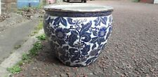 More details for chinese porcelain pottery plant pot fish bowl large