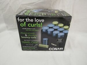 Conair 12 Multi Sized Rollers Ceramic Technology For Fast Heat Open Box
