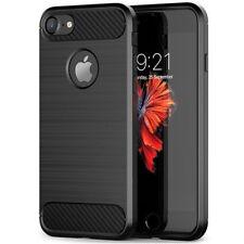Apple iPhone 7 Handy Hülle TPU Tasche Schutz Hülle Case Cover Etui Schwarz