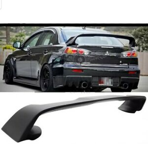 EVO X Style Trunk Spoiler Unpainted for 07-18 Mitsubishi Lancer CJ VRX