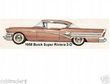 1958 Buick Super Riviera 2-Door  Refrigerator Magnet