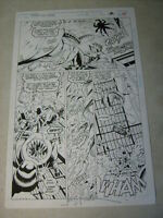SPIDER-MAN 2099 SPECIAL #1 pg #12 original comic art WILD THRILLS AUTOGRAPHED