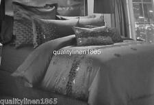QUEEN Perle Tosca Delustred Polyester Satin Velvet Applique Quilt Cover Set