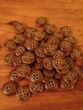 Stock lotto 50 bellissimi bottoni  marroni diametro 1.5 merceria