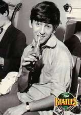 George Harrison Having a Drink, Coca Cola Bottle ?, Straw - Beatles Trading Card