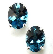 London Blue Topaz, 925 Sterling Silver Earrings, SE002