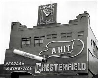 Polo Grounds #7 Photo 8X10 - 1954 Chesterfield Sign B&W