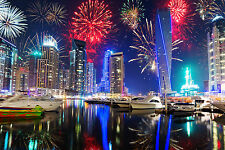 STUNNING CANVAS DUBAI CITYSCAPE SKYLINE #457 QUALITY A1 WALL HANGING PICTURE ART