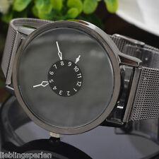 LP Herren Damen Uhr Armbanduhr Quarzuhr Analog Lederband Watch Farben M11676