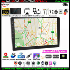 10''2 Din GPS Android Car Radio Airplay+Camera Wifi iOS Mirror Link BT Touch FM