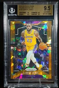 LeBron James 19-20 Prizm Orange Ice BGS 9.5 True Gem Lakers