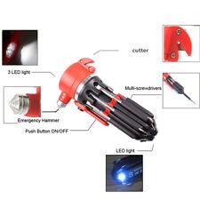 Car Safety Hammer Lifesaving Screwdriver Tool seat belt cutter Knife Flashlight
