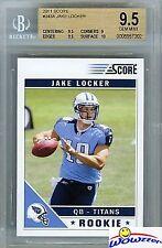 2011 Score #343A Jake Locker ROOKIE BGS 9.5 GEM MINT Titans