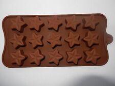 Nuevo 15 agujero Silicona Grandes Forma De Estrella Molde Jelly Hielo Candy pastel de chocolate