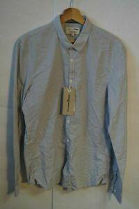 Tom Tailor, Herren Hemd, Weiß/Blau/Streifen, Gr.L, UVP 39,99 € Neu!