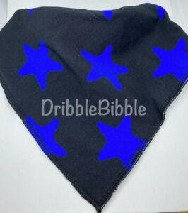 ❤ Special Needs Disabled Dribble Bib Bandana Teen Dog Medium ❤ Black Blue Star ❤