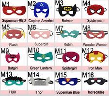 Superhero Masks - Felt masks for Kids Halloween Costume Birthday Party Favor