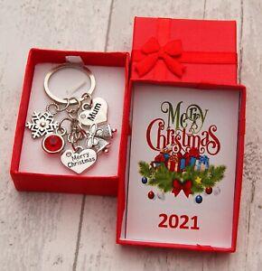 XMAS GIFT Keyring for Mum Daughter Daddy Friend Niece Nana -Christmas Gift
