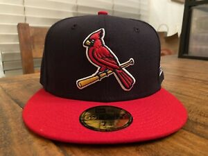St. Louis Cardinals 2006 World Series 2 tone New Era Fitted Hat 7 3/4 Gray UV