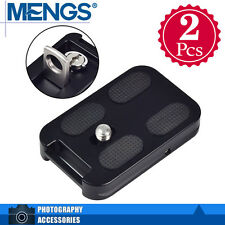 2x MENGS QR-60 Quick Release Plate with Attachment Loop Aluminum Alloy For DSLR