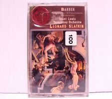 Browning Barber Piano Concerto & Symphony No 1 SLSO Slatkin RCA Cassette Tape